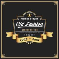 Cadre et étiquette de mode ancienne pour Apparel Whiskey Wine Jeans vecteur