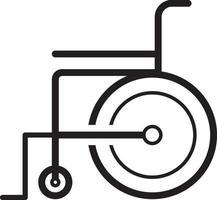 icône de ligne pour fauteuil roulant vecteur