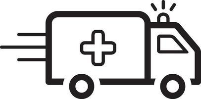 icône de ligne pour ambulance vecteur