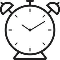 icône de ligne pour alarme vecteur
