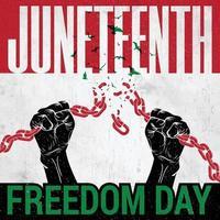 célébration de juin le jour de la liberté vecteur