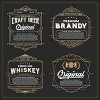 Design de cadre vintage pour étiquettes, bannières, autocollants et autres vecteur
