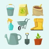 collection d'icônes de jardinage au design plat