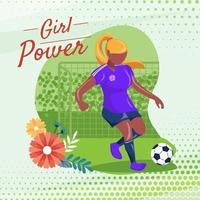 concept de joueur de futsal féminin vecteur