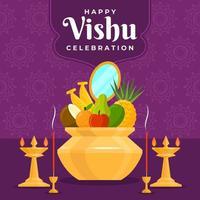 concept de célébration vishu