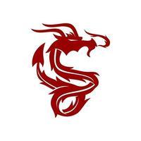 vecteur de modèle de mascotte de conception de puissance de dragon isolé