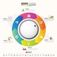 modèle de conception infographie chronologie vecteur