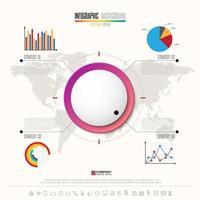 modèle de conception infographie avec jeu d & # 39; icônes