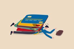 dette de carte de crédit. vecteur