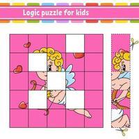 puzzle logique pour les enfants. feuille de travail sur le développement de l'éducation. jeu d'apprentissage pour les enfants. page d'activité. illustration vectorielle simple plat isolé dans un style dessin animé mignon. vecteur