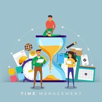 gestion du temps en entreprise vecteur