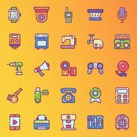 gadgets technologiques modernes stickers vecteur