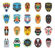 masques africains traditionnels vecteur