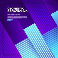 carte géométrique avec des couleurs vives et des compositions de formes dynamiques vecteur