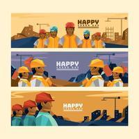 concept de bannière de la fête du travail
