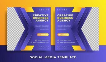 flyer ou modèle de médias sociaux sur le thème des entreprises