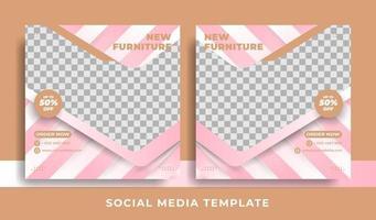 thème de meubles de modèle de flyer ou de médias sociaux vecteur