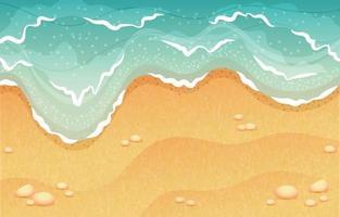 vagues de plage en fond d & # 39; été vecteur