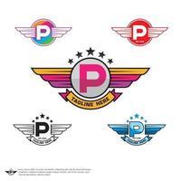 vecteur de logo lettre p