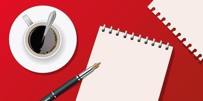 une page de cahier pour écrire un message vecteur
