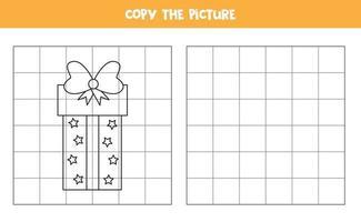 copiez l'image. boîte-cadeau de Noël. jeu logique pour les enfants.