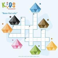mame ce puzzle de mots croisés de couleur vecteur