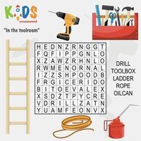 dans la salle d'outils mots croisés de recherche de mots