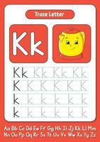 écrire des lettres k