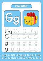 écrire des lettres g