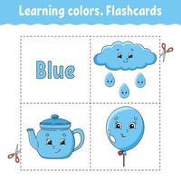 apprendre les couleurs. puzzle logique pour les enfants. feuille de travail sur le développement de l'éducation. jeu d'apprentissage. page d'activité. illustration vectorielle simple plat isolé dans un style dessin animé mignon. vecteur