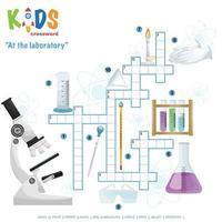au puzzle de mots croisés du laboratoire
