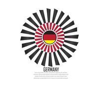 illustration vectorielle de drapeau allemagne