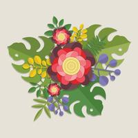 Papercraft floral 3d vecteur