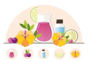 Illustration de jus de fruits de vecteur