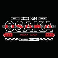conception de t-shirt typographie denim osaka japon vecteur