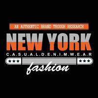conception de t-shirt typographie denim usa new york city vecteur