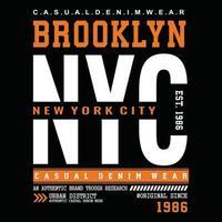 conception de typographie de vêtements urbains new york city vecteur
