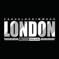 conception de typographie de vêtements urbains de Londres vecteur