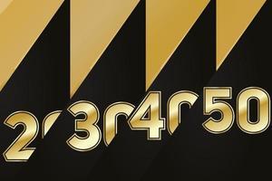ensemble de style de logo anniversaire avec écriture couleur dorée pour l'événement de célébration, mariage, carte de voeux et invitation vecteur