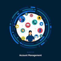 compétences en gestion de compte recherchées vecteur