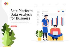 site Web d'analyse de données vecteur