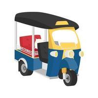 thaïlande tuk tuk, vecteur de voiture tri moteur