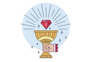 Vecteur de Graal Cup