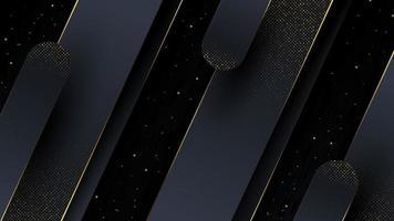 fond abstrait de luxe avec garniture en or vecteur