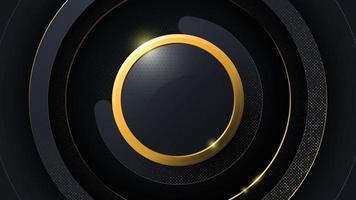 abstrait de luxe sous la forme de cercles. vecteur