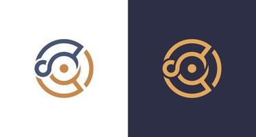 abstrait lettre chic cercle lettre c logo infini vecteur