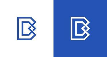 logo moderne élégant et géométrique lettre b dan d avec le symbole de l'infini vecteur