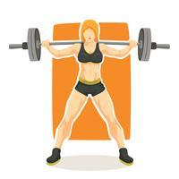 Vecteur de bodybuilder femme
