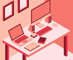 Espace de travail isométrique