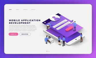 développement d'applications mobiles vecteur